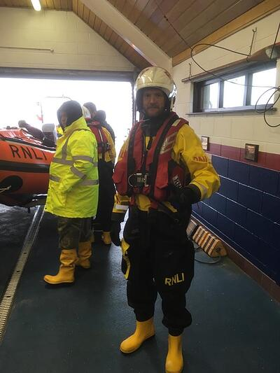 Dr Stephen, ready for lifeboat action